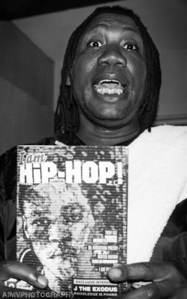 KRS One holding I Am Hip Hop Magazine London