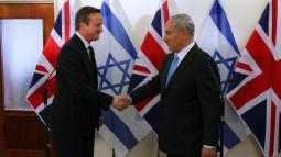 David Cameron and Binyamin Netanyahu in Jerusalem