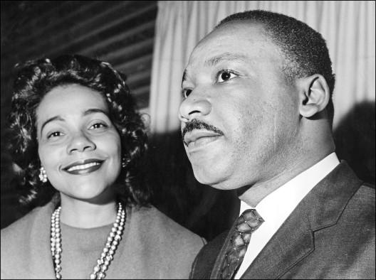 Coretta Scott King and her husband Martin Luther K