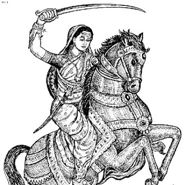 Great-Sketch-of-Rani-Laxmi-Bai