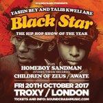 EVENT:BLACK STAR (YASIIN BEY & TALIB KWELI) | OCTOBER 20TH |LONDON