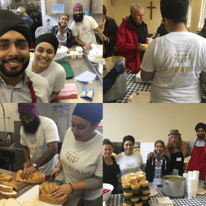 Feeding the homeless 2015 during lunch at Chelsea Methodist church.