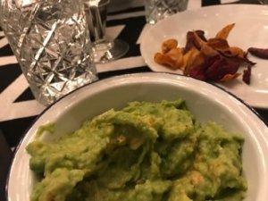 guac + veg crisps