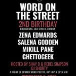 REVIEW   POETRY NIGHT 'WORD ON STREET' CELEBRATES 2ND BIRTHDAY