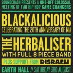 EVENT| BLACKALICIOUS WITH THE HERBALISER AT EARTH THEATRE HACKNEY, 3RD AUGUST