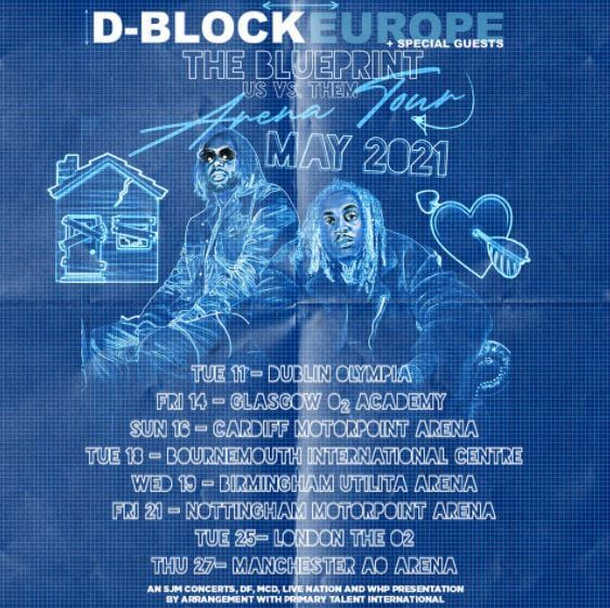 D-BLOCK EUROPE ANNOUNCE 2021 ARENA TOUR  INCLUDING THE O2, LONDON