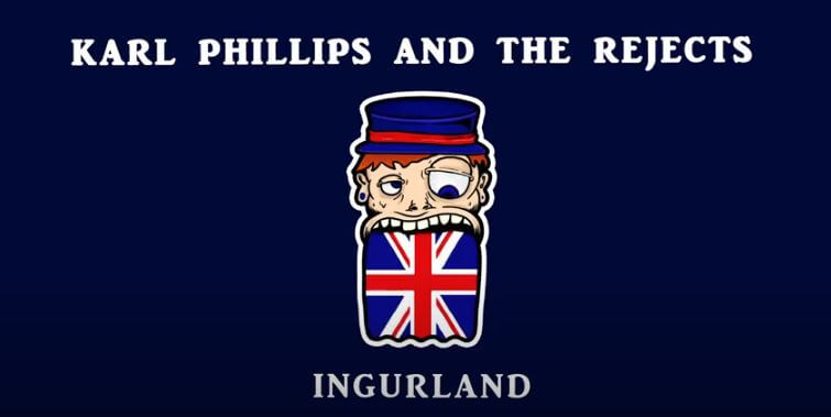 REVIEW | KARL PHILLIPS & THE REJECTS DON'T HOLD BACK WITH NEW SINGLE 'INGURLAND'