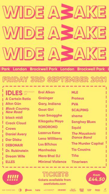 WIDE AWAKE FESTIVAL 3RD SEPTEMBER 2021 BROCKWELL PARK, LONDON
